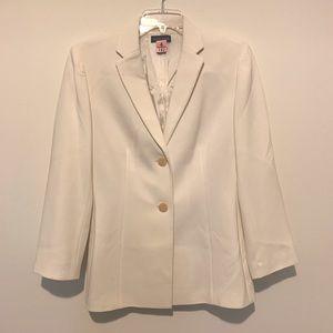Ann Taylor Off White Blazer Suit Jacket